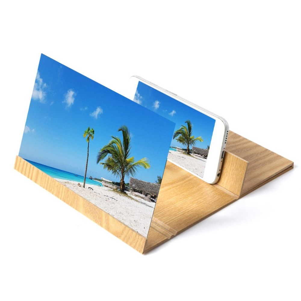 12 Inch Mobile Phone Screen Magnifier 3D HD Video Amplifier Folding Enlarged Expander Stand For Video Holder Phone Holder