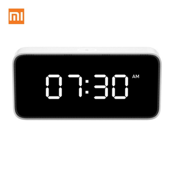 Xiaomi Xiaoai Smart Alarm Clock AI Voice Broadcast Clock ABS Table Desktop Clocks Automatic Time Calibration Mi Home App Gateway