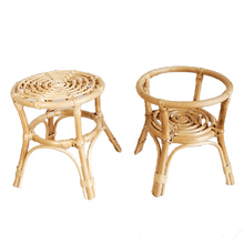 Natural Rattan Hand-Woven Flower Pot Indoor Plant Stand for Gardening and Interior Decoration