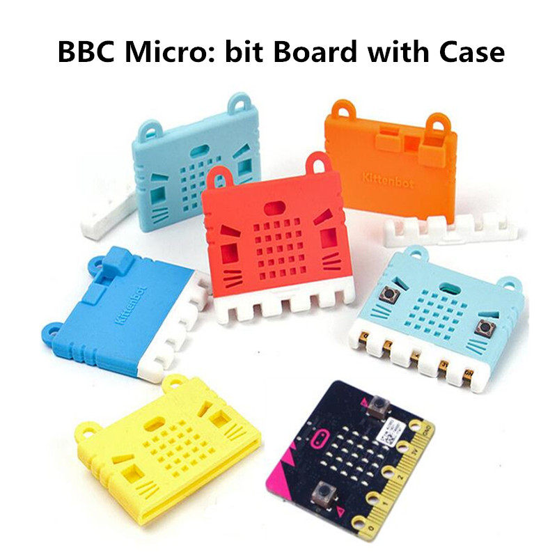 For Microbit Protective Case Silicone Soft Cover Kitty Cute KittenBot Red Color