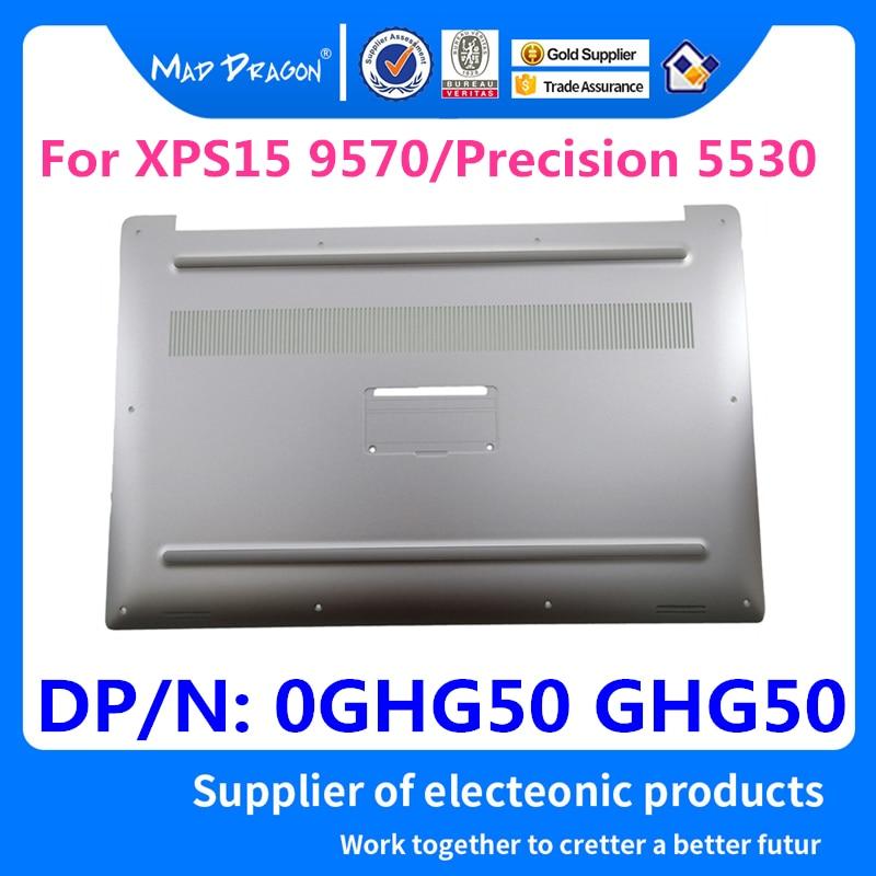 MAD DRAGON Brand Laptop NEW silver white Bottom Base Bottom Cover for Dell XPS 15 9570 / Precision 5530 M5530 DAM00 0GHG50 GHG50