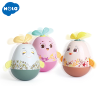 HOLA TOYS 3133 Baby Newborn Toys Nodding Tumbler Toys For Kid Ring Bell for baby gifts