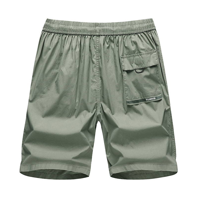 Summer New Style Men Household Casual Pants Solid Color Printed Shorts Loose-Fit Large Trunks Pure Cotton Shorts A93