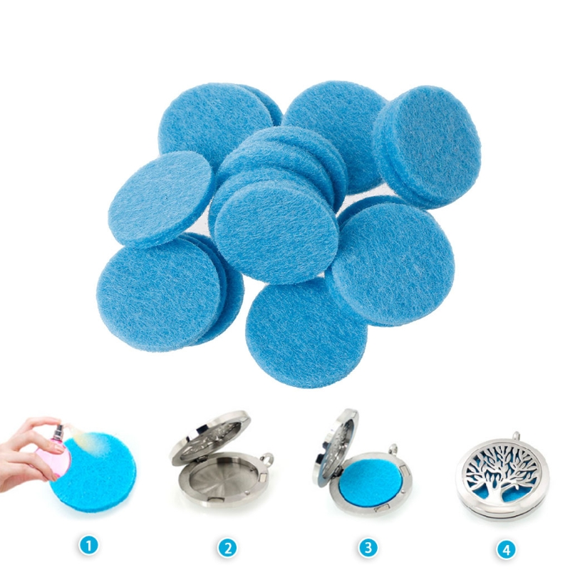 30mm Round Refill Pads For Car Aromatherapy Essential Oil Diffuser Locket
