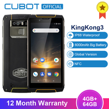 Cubot King Kong 3 IP68 Waterproof Shockproof Smartphone 5.5'' Android 8.1 4GB 64GB MT6763T Octa Core