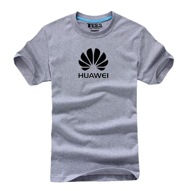 Summer Huawei Logo T Shirt Cotton Casual Short-sleeved T-shirt