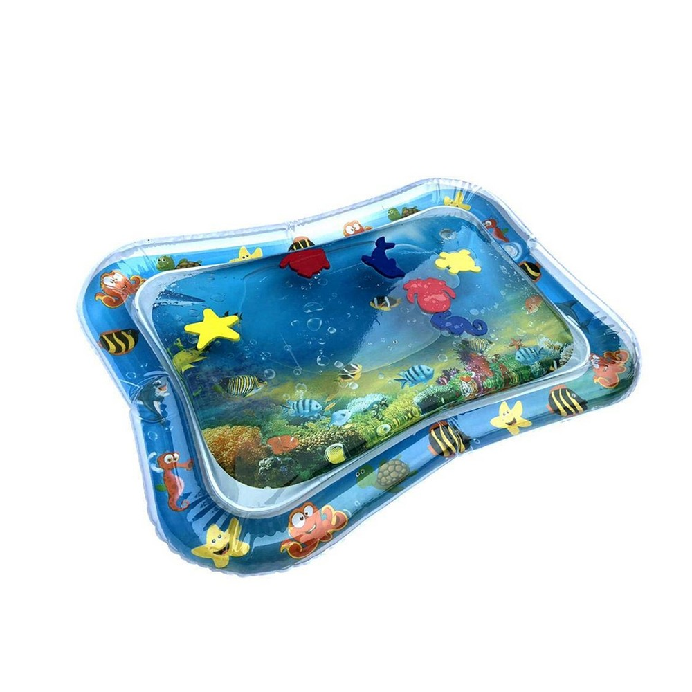Hb7f73bd77e0247649f609627cc49a9edY Baby Kids Water Play Mat Toys Inflatable PVC infant Tummy Time Playmat Toddler Activity Play Center Water Mat Dropshipping