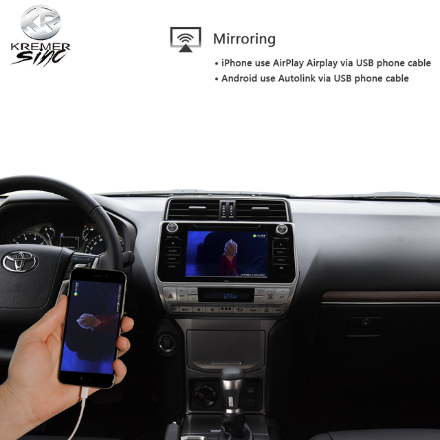 Wireless CarPlay Android Auto for Toyota Landcruiser iSmart Auto Wireless Android Auto for Prado 13-20 Models 5