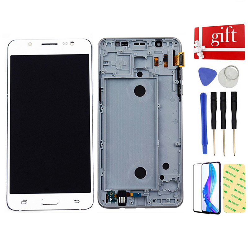 For Samsung Galaxy J5 2016 J510 SM J510F <font><b>J510FN</b></font> J510M J510Y J510G DS Touch Screen Digitizer LCD <font><b>Display</b></font> Screen Assembly Frame image