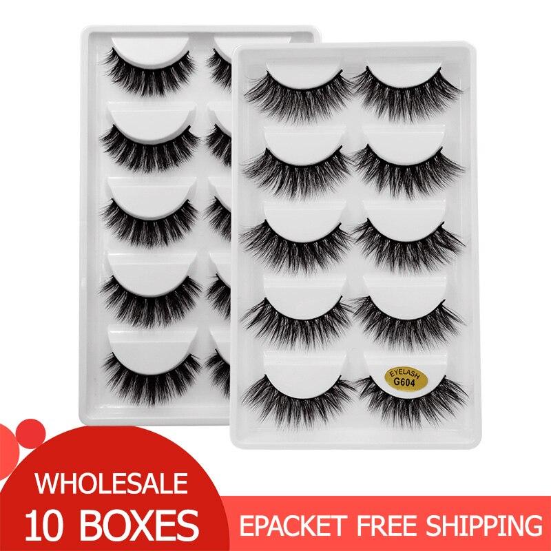 50 Pairs Mink Eyelashes Wholesale False Eyelashes Lashes Natural Long 3d Mink Lashes Makeup Fake Eyelashes Maquiagem Faux Cils