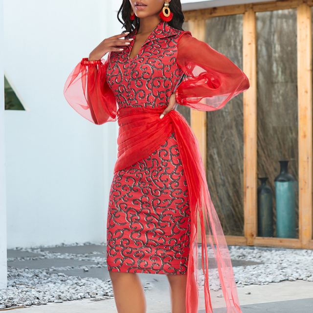Women Bodycon Print Dress