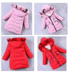 Image 5 - Girls Down Jackets Baby Outdoor Warm Clothing Thick Coats Windproof Childrens Winter Jackets Kids Colourf Fur Collar Outerwear