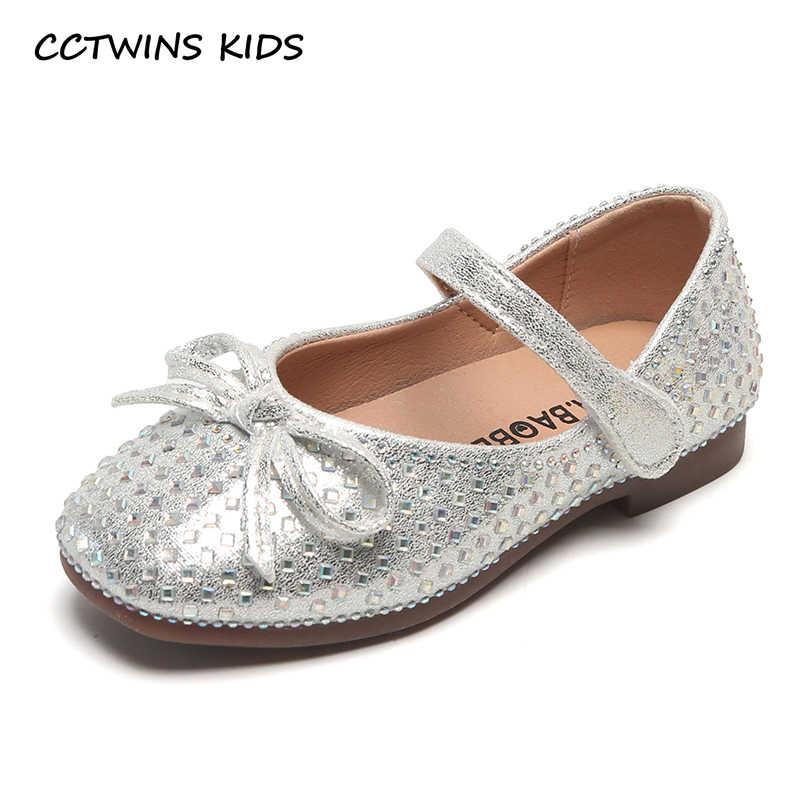Çocuk Ayakkabı 2019 Bebek Kız Yeni Tatlı Papyon Mary Jane Daireler Yürümeye Başlayan Beyaz Elbise Ayakkabı Çocuklar Sonbahar Moda Yumuşak Pu deri ayakkabı