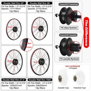 Image 2 - Bafang 48V 500W Brushless Gear Hub Motor E bike Motor G020.500 Rear Wheel Drive Electric Bike Conversion Kit Bicycle for Adult