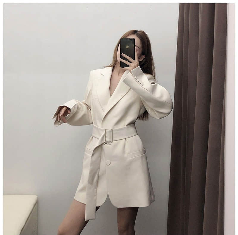 NiceMix High Quality Women Blazer New Office Ladies Blazer Small Suit Women Elegant Long Sleeve Blazer Outerwear Office Ladies
