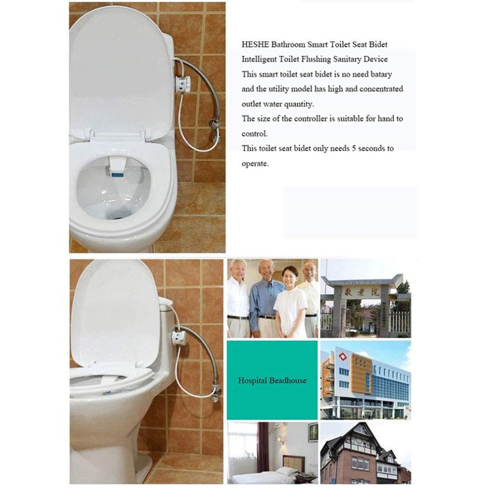 Automatic Toilet bidet faucet Flushing Sanitary Device Bathroom Accessories Smart Toilet Seat Bidet Intelligent