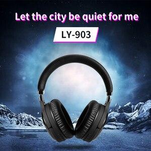 Image 3 - Anc bluetooth fone de ouvido com cancelamento de ruído ativo sem fio & com fio fone de ouvido com microfone fone graves profundos alta fidelidade som
