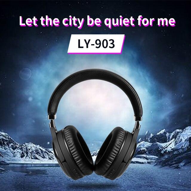 Auriculares ANC con bluetooth, cancelación activa de ruido, auriculares inalámbricos y con cable con micrófono, auriculares con sonido de alta fidelidad de graves profundos