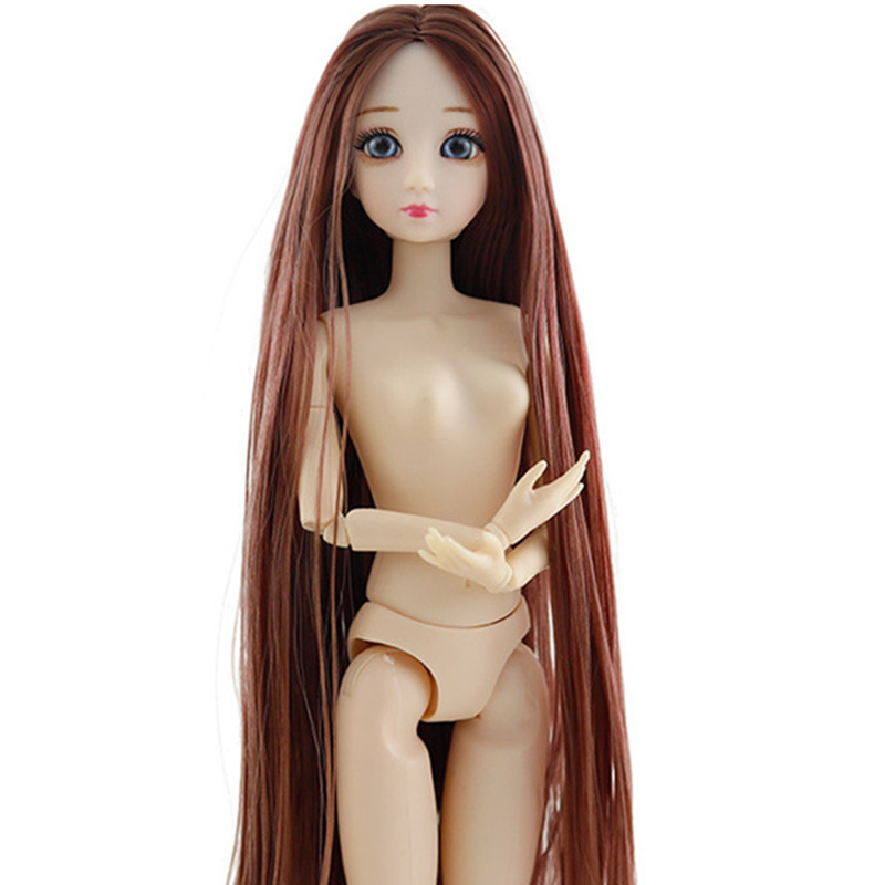 30cm Bjd Doll 20 Movable Joint Changeable Clothes Fashion Wedding Coat Plush Gown Grid Skirt Dolls Accessories Toys For Girls