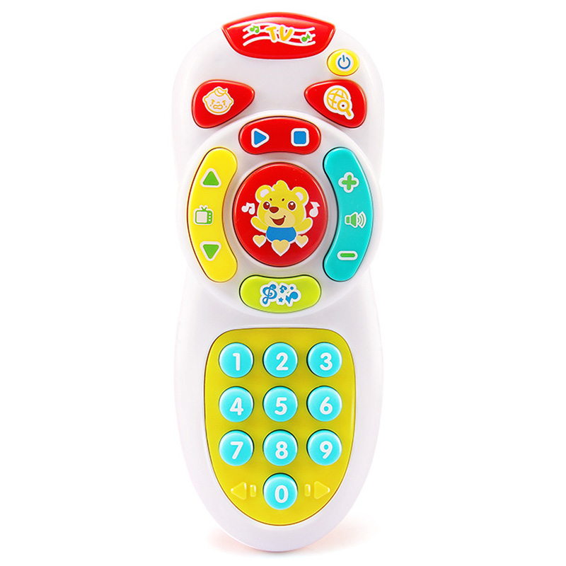 Baby Simulation TV Remote Control Mobile Phone Toy Kids Educational Music Learning Vocal Toy