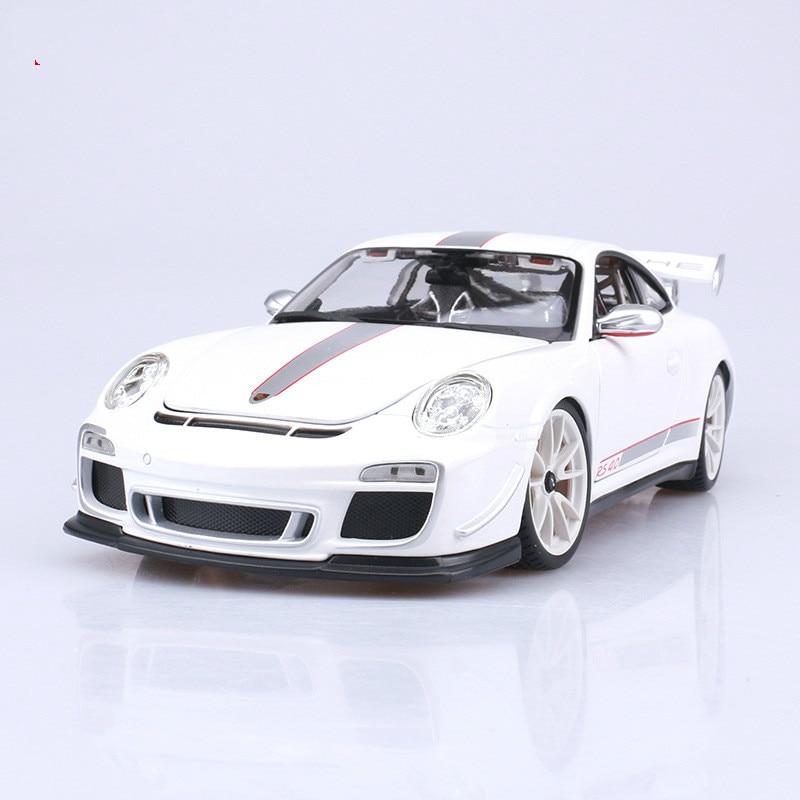 Blue Porsche 911GT3 Rs 4.0 1:18 Diecast Model Cars Static Simulation Alloy Mini Car Collection Toys Miniature Cars Metals