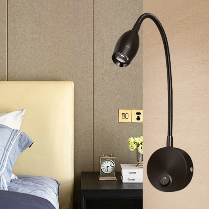 Dimmable 1W 3W led wall light bedside lamp reading lamp wall lamp led plumbing house lighting painting mirror light AC85-265V