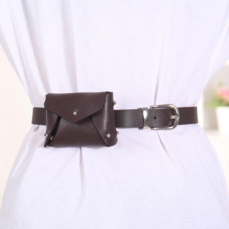 2020 Spring New Design Solid Waist Bag Tide All-match Bags For Women Black Fashion Stylish Trendy Chain Belt Bag Female ZK764