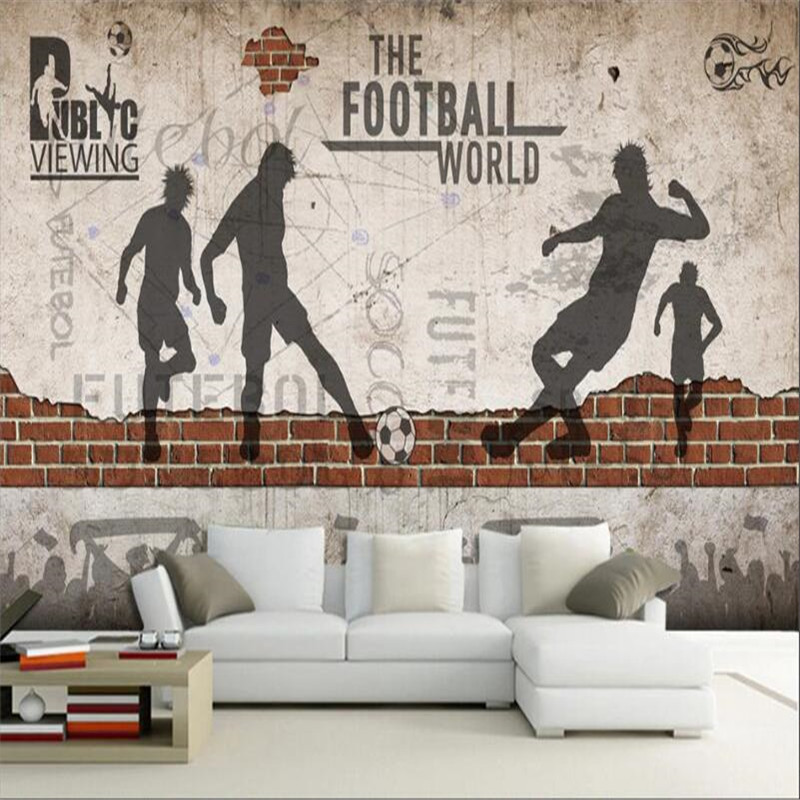 3D Basketball Sport  Self-adhesive Removable Wallpaper Murals Wall Sticker FC