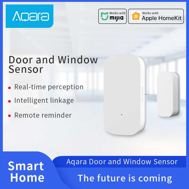 Aqara kapı pencere sensörü Zigbee kablosuz bağlantı Mijia akıllı ev aksesuarları sensörü ile çalışmak HomeKit Mi ev App