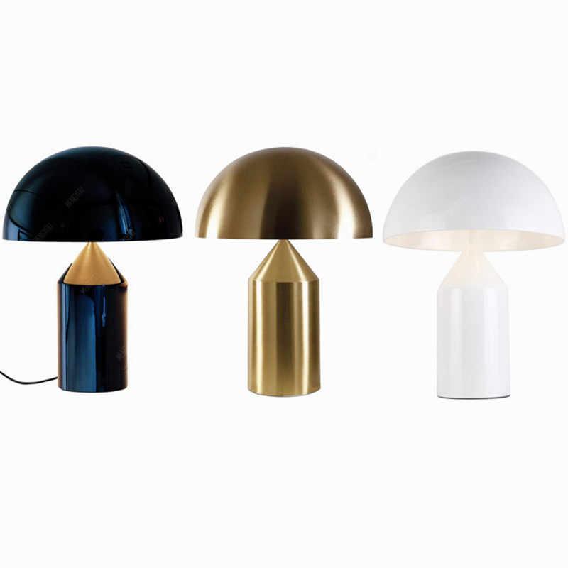 현대 금속 버섯 테이블 램프 이탈리아 예술 장식 LED 책상 램프 침실 머리맡 램프 북유럽 장식 독서 조명기구