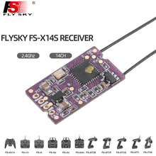 Flysky FS X14S 2.4G PPM i-BUS S-BUS 14CH Dual Antenna One Way Receiver For RC Drone FS NV14 I6X I6 I6S I6X Remont Controller