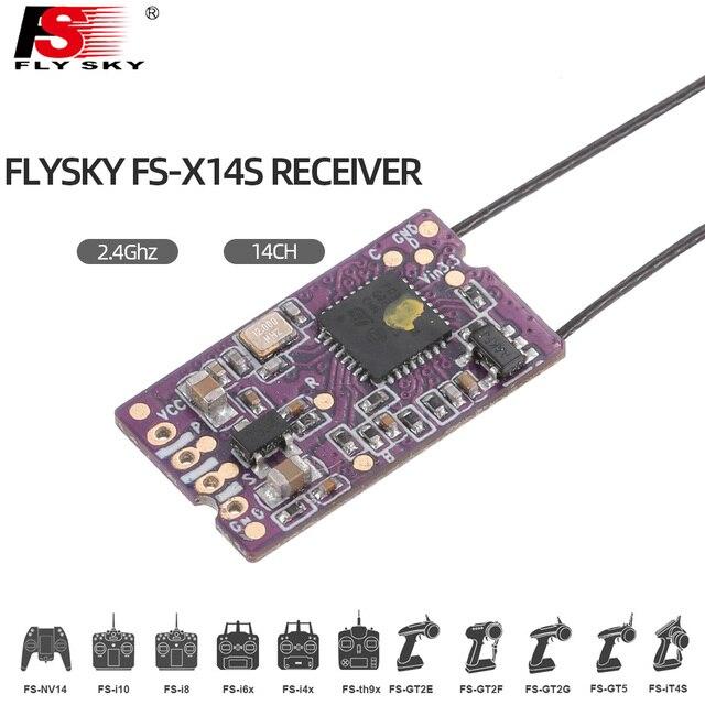 Flysky FS X14S 2.4G PPM i bus S BUS 14CH double antenne récepteur unidirectionnel pour Drone RC FS NV14 I6X I6 I6S I6X contrôleur Remont