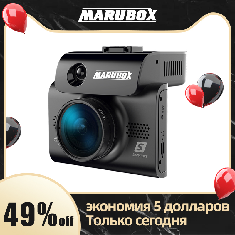 Marubox Car-Dvr-Radar-Detector Video-Recorder Signature M700R 170-Degree-Angle Touch title=