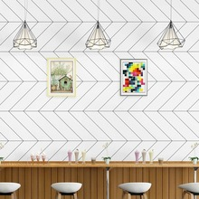 Geometric Wallpapers Living-Room Minimalist Stripes Nordic Home-Decor for Non-Woven-Fabric