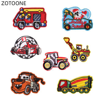 ZOTOONE Iron on Embroidered Patch Heat Transfer for Clothes Jeans Sew on Badge DIY Stickers Car Patches for Kids Applique G image