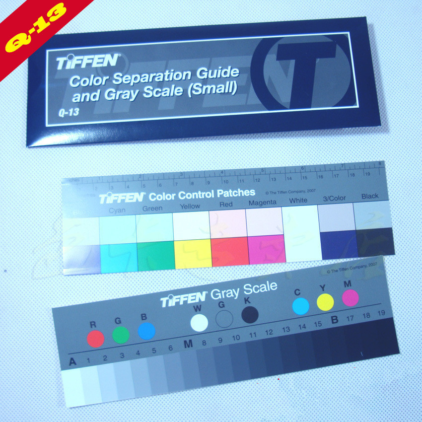 Q-13 Color Scale Card - Gray Scale Card Q-13 Gray Scale Card (original Kodak) Gray Scale Color Change Card