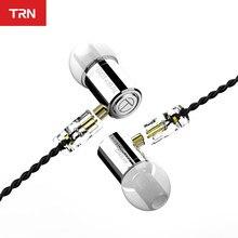 Trn m10 1ba + 1dd híbrido no fone de ouvido alta fidelidade fones no monitor v90 vx v80 ba5 vx em fones de ouvido