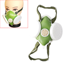 New Dual Anti Dust Gas Respirator Mask Filter Industrial Paint Spraying Protective Facepiece Twin Chemical Spray Paint Safety He