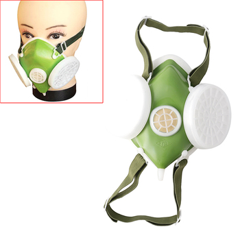 New Dual Anti-Dust Gas Respirator Mask Filter Industrial Paint Spraying Protective Facepiece Twin Chemical Spray Paint Safety He Computer, Office & Security