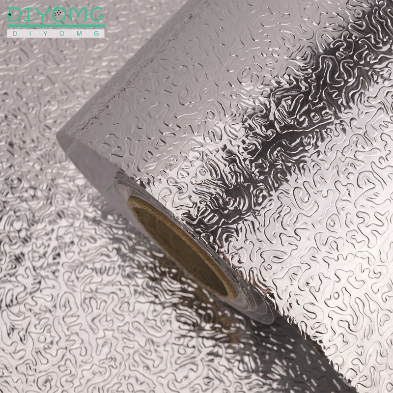 Kitchen Oil-proof Self Adhesive Stickers Anti-fouling High-temperature Aluminum Foil Waterproof Wallpaper Cabinet Contact Paper