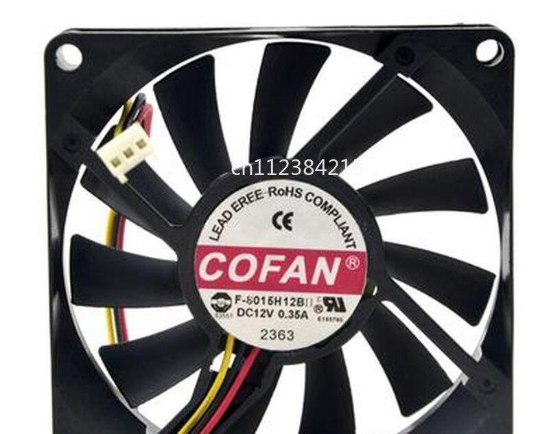 Free Shipping For COFAN F-8015H12B Server Cooler Fan DC 12V 0.35A 80x80x15mm 2-wire