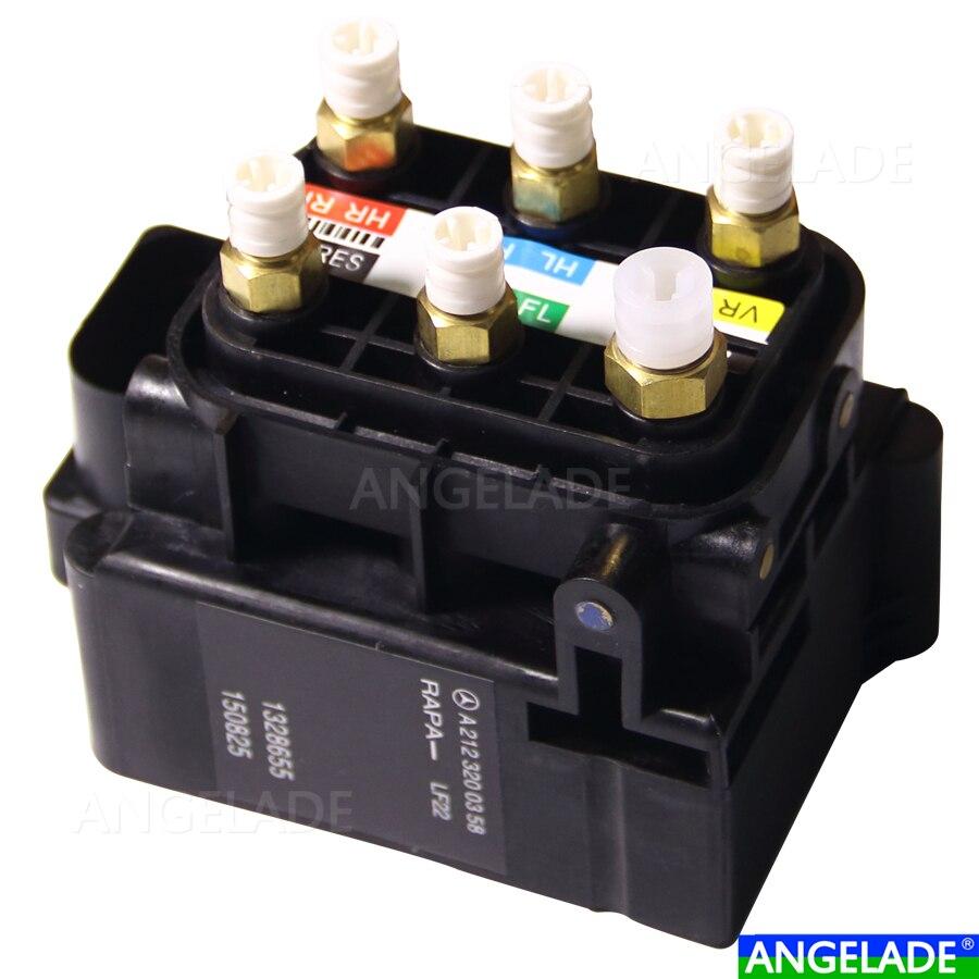 MercedeBenz W164 X164 W216 W166 W251 W212 Suspension Pneumatique L'électrovanne D'alimentation Bloc 2123200358 2513200058 1643201204 1643200904
