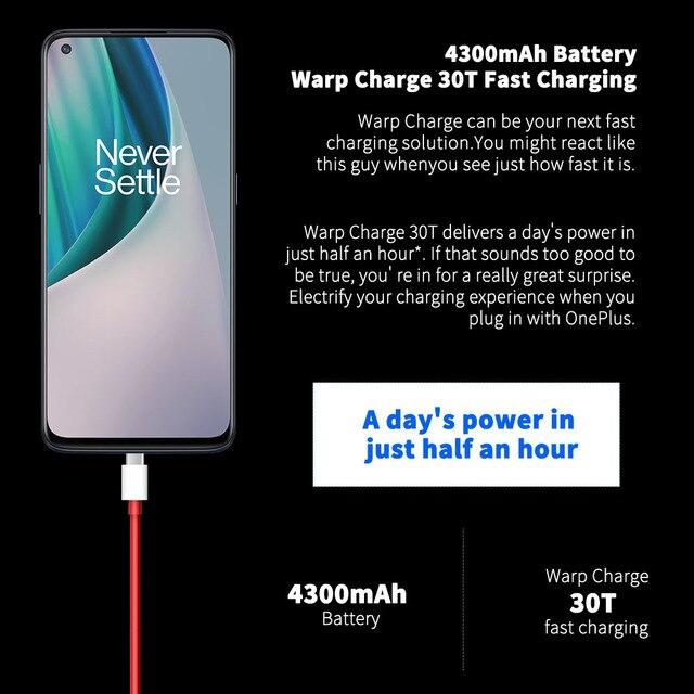 Versão global oneplus nord n10 5g telefone móvel 6.49 polegada 90hz exibição suave 6gb 128gb snapdragon 690 64mp quad camera nfc 5