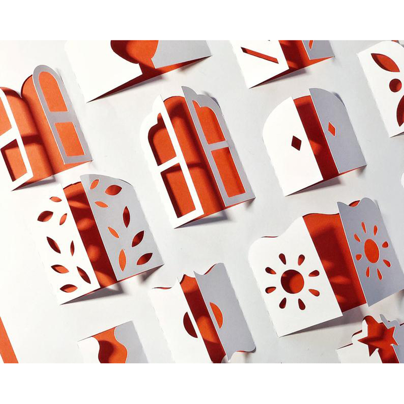 24/pcs Metal Cutting Dies 3D windows Stencils for DIY Scrapbooking Album Paper Card Decorative Craft Embossing Die Cuts