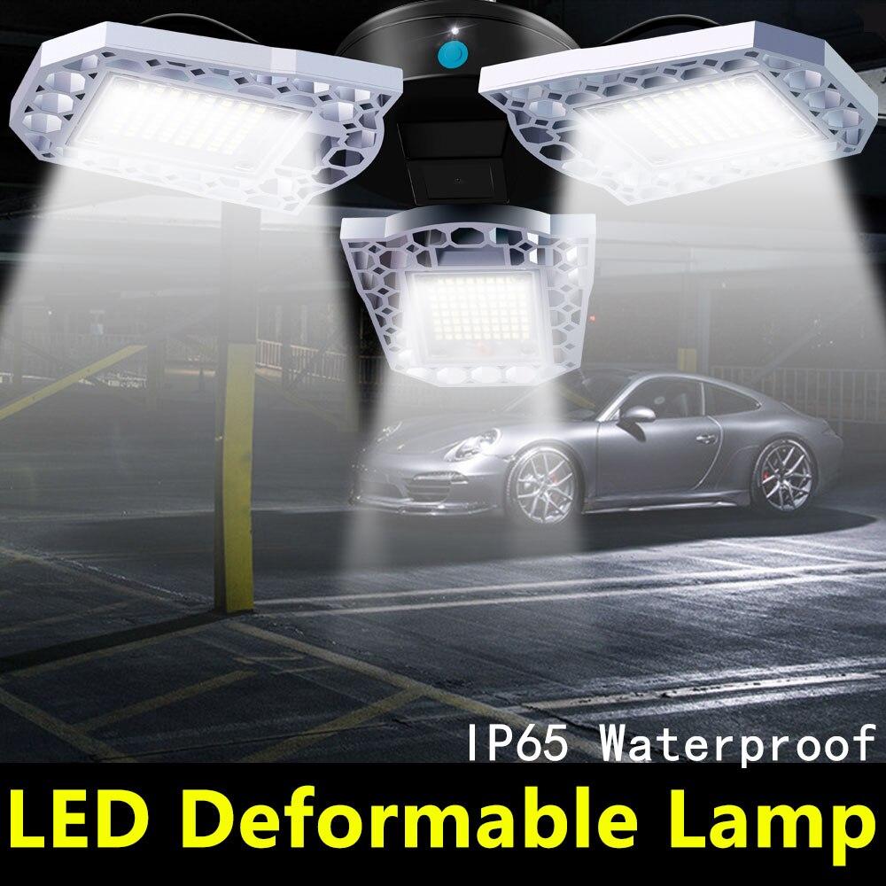 UFO 60W 80W 100W LED E27 Garage Light Deformable LED 110V Bulb Waterproof LED High Bay Light Bulb 220V Lamp Workshop Lighting