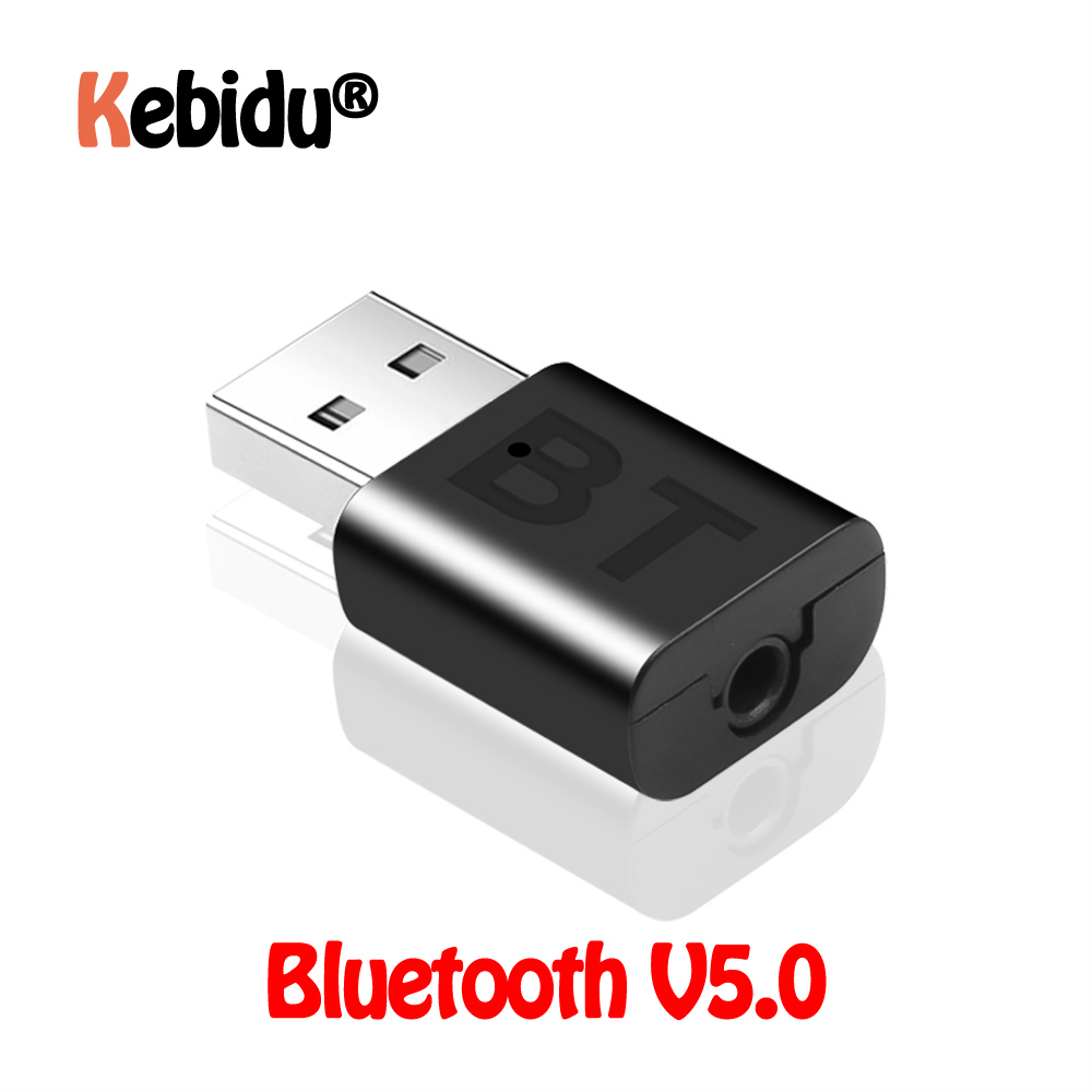 Mini USB Adapter Wireless Bluetooth A2DP 3.5mm USB Handsfree Home Car Kit AUX Audio Stereo Music Receiver V5.0 For Android IOS