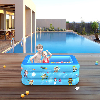 Children Inflatable Swimming Pool Inflatable Bathtub Kids Summer Water Fun Play  Inflatable Square Swimming Pool for baby
