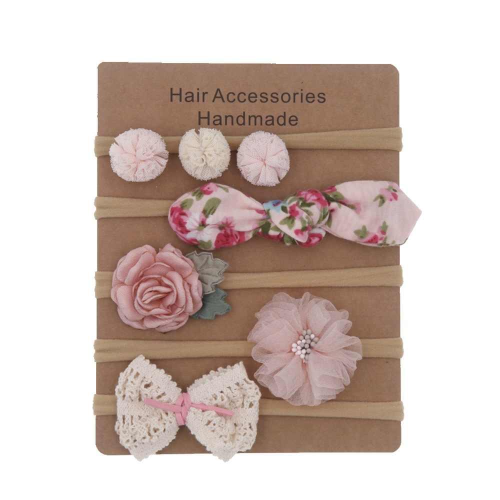 Diademas para bebés lazos para cabello de recién nacido niños pequeños diadema banda elástica para el cabello accesorios para el cabello para niñas 5 unids/lote