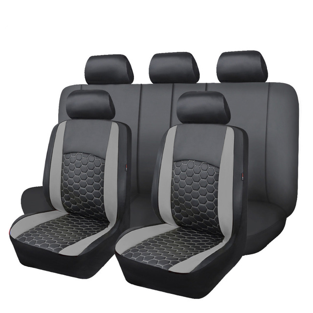 Delux PVC car seat covers set double laminated embroidery airbag compatible rear bench split 40/60 50/50 60/40 SUV