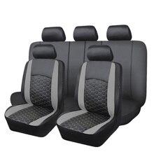 Lüks PVC araba koltuğu kapakları seti çift katmanlı nakış hava yastığı uyumlu arka tezgah bölünmüş 40/60 50/50 60/40 SUV